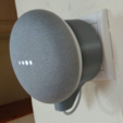 3D printer models Support google home mini on EU plug, chauxbar