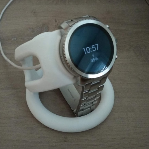 Download 3D printer files Charging holder for connected fossil explorist watch, chauxbar