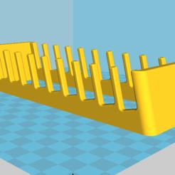 Télécharger plan imprimante 3D gatuit Rack support pour 10 telephones, chauxbar