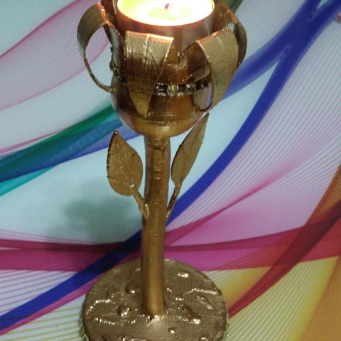 Free 3d model candleholder flawor, HalitTuvay