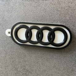 Descargar STL gratis Llavero con el logo de Audi, JLV
