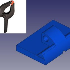 Download 3D printing designs Plate for 90 mm clamp clamps, Papy_Boum