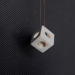 Download 3D printer designs A marble in a cube, Papy_Boum