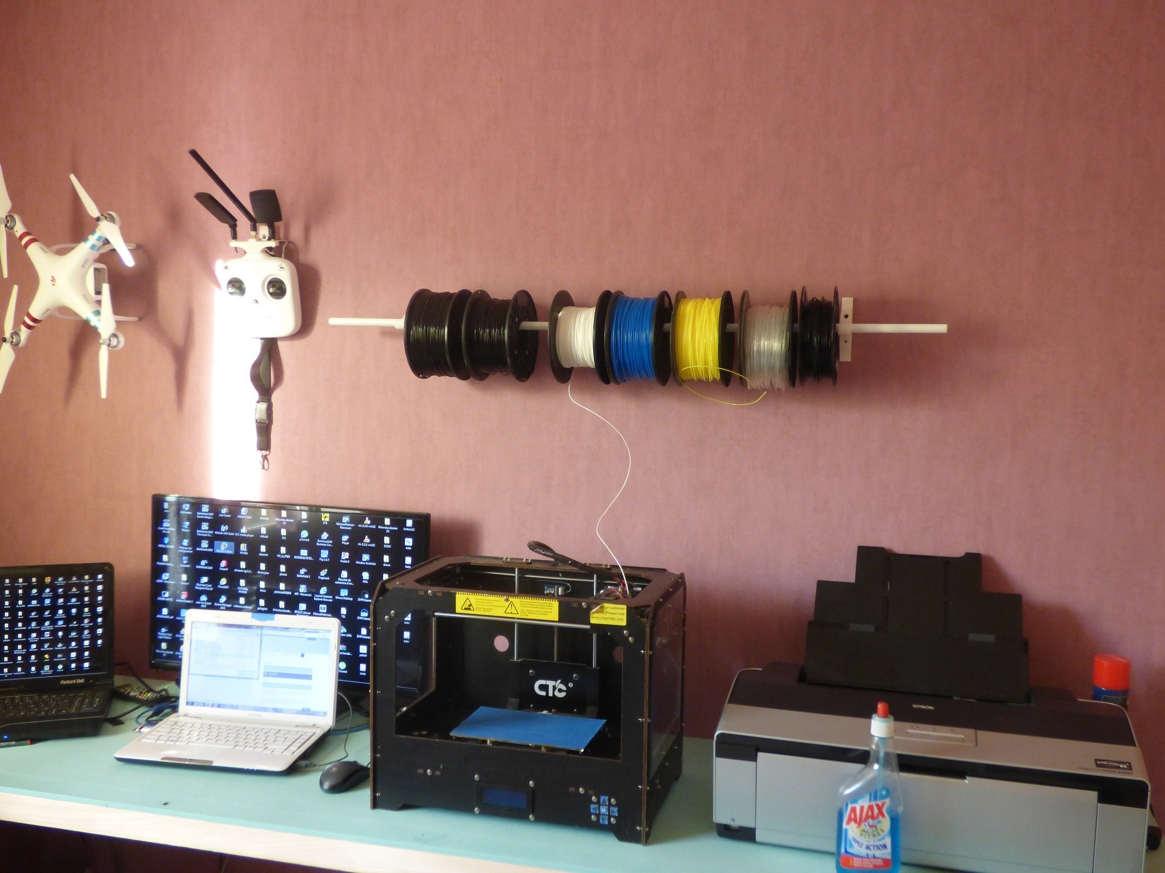 P1030364.JPG Download free STL file roll holder • 3D printer template, plume66