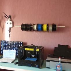 Télécharger fichier impression 3D gratuit porte rouleaux, plume66