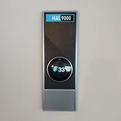 IMG_20200318_102046.jpg Download STL file HAL 9000 nest thermostat faceplate • 3D printer object, Myst