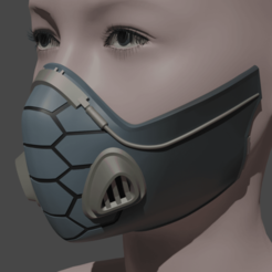 1.png Download STL file Viper Gas mask / respirator from Valorant for 3d printing 3D print model • 3D printing template, geck