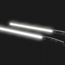 ws.png Télécharger fichier STL Ahsoka Tano, sabre laser blanc, cosplay 3d print star wars • Plan à imprimer en 3D, geck