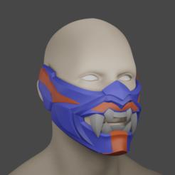 ren1.png Télécharger fichier STL valeureux masque yoru cosplay impression 3d • Design à imprimer en 3D, geck