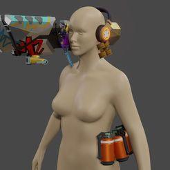Download 3D model Valorant raze  rocket launcher cosplay kit for 3d printing 3D print model, geck