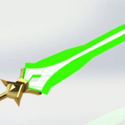 Impresiones 3D kayle sword 2 versiones prop weapons sword stl LOL league of legends - 3d model, geck
