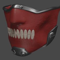 b1.png Download STL file en mask cosplay prop dorohedoro  3d model   for printing • 3D printing model, geck