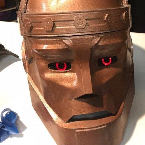 3D print model Robotman mask +arm + sholder, geck
