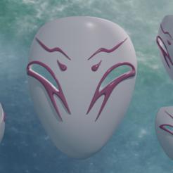 Imprimir en 3D Máscara Spirit Blossom Kindred (Liga de Leyendas) LOL Cosplay - Modelo 3D STL para imprimir, geck