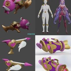 Impresiones 3D Juego de cosplay de heartseeker jinx League of Legends para imprimir el modelo en 3D, geck