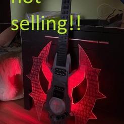 Descargar diseños 3D Guitarra Doom Eternal para impresión en 3D trabajo real modelo de impresión en 3D, geck