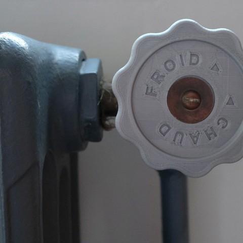 Plan 3d gratuit bouton de robinet pour radiateur ancien en - Robinet thermostatique pour radiateur fonte ancien ...
