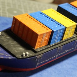 Download free STL file Cargo Container for Cargo Ship Marauda, MasterFuba