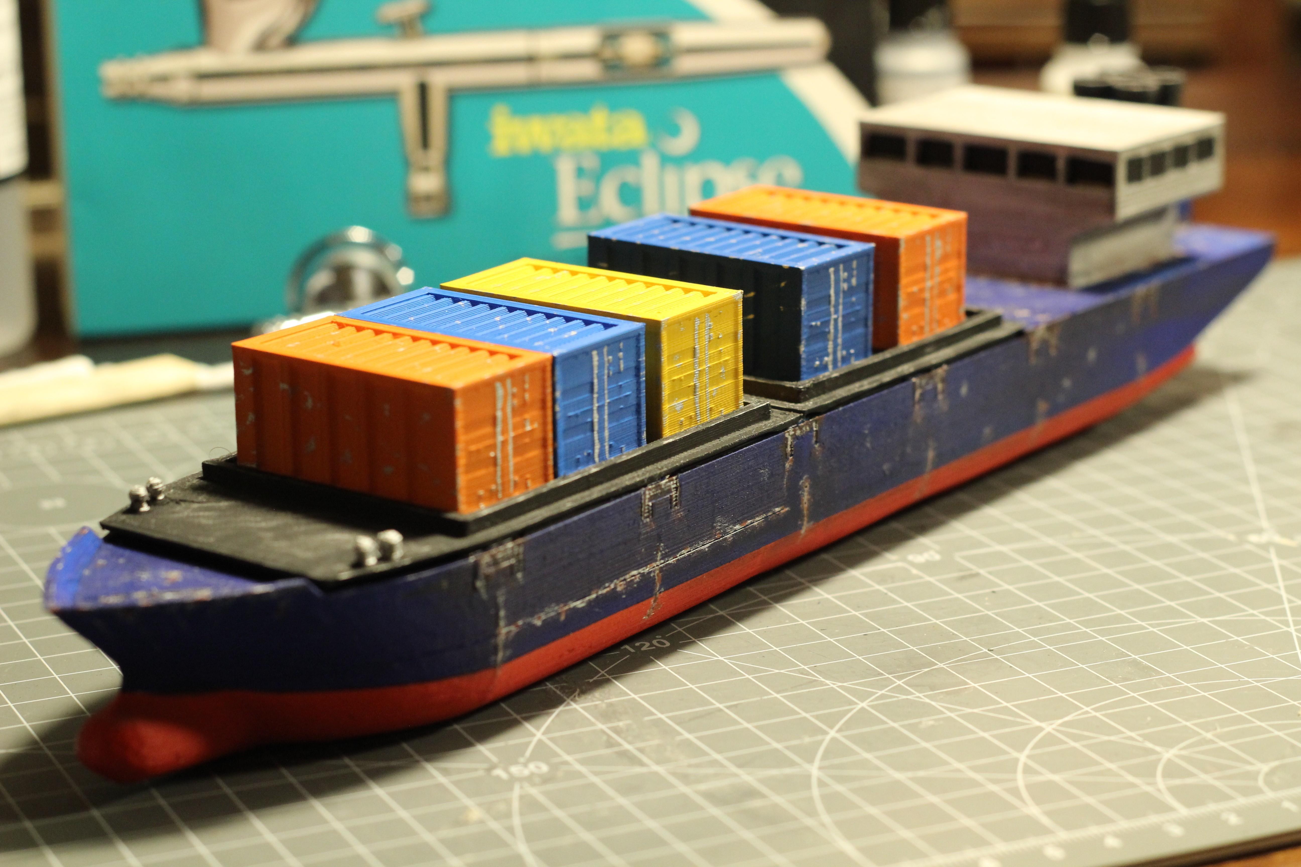 IMG_8471.JPG Download STL file Cargo Ship - Marauda • 3D printer object, MasterFuba
