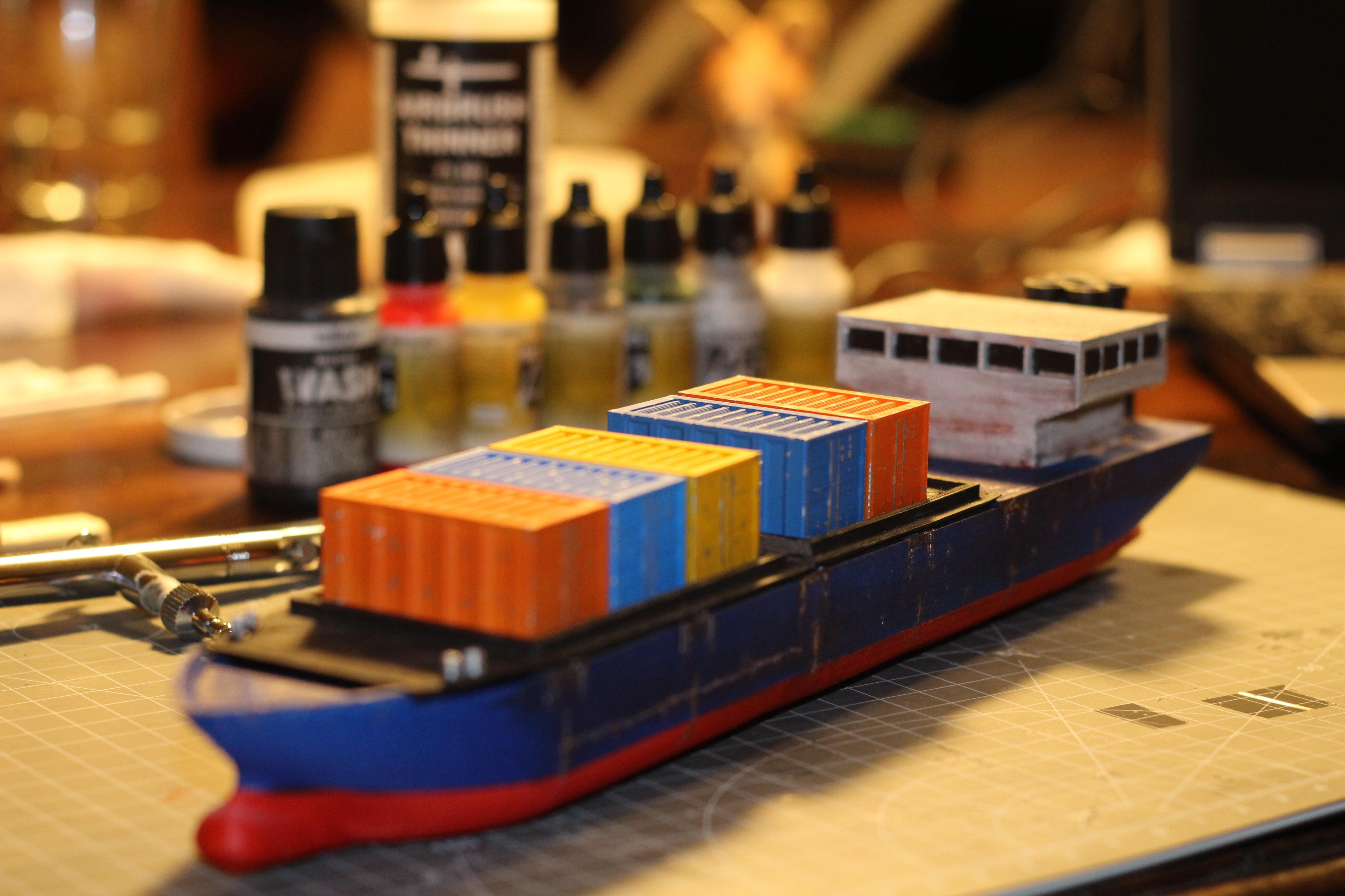IMG_8448.JPG Download STL file Cargo Ship - Marauda • 3D printer object, MasterFuba