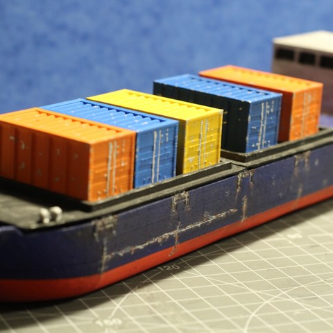 IMG_8473.JPG Download STL file Cargo Ship - Marauda • 3D printer object, MasterFuba