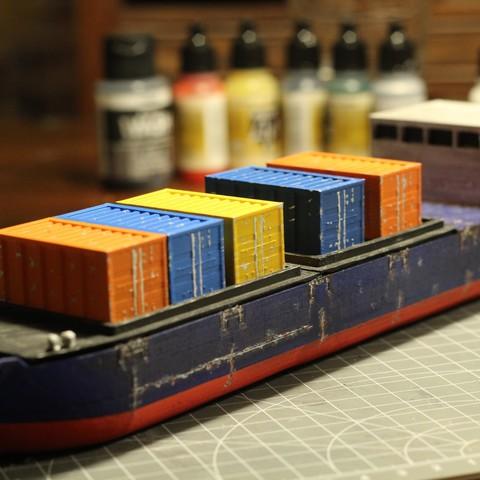 IMG_8469.JPG Download STL file Cargo Ship - Marauda • 3D printer object, MasterFuba