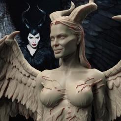 Descargar diseños 3D Maléfica princesa del mal, paulienet