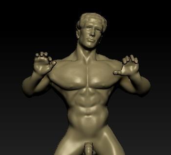 face.jpg Download OBJ file Bang my balls door knocker • 3D print design, paulienet