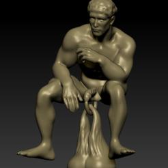 3D print files Thinker door knocker, paulienet
