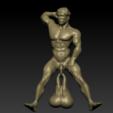 2.png Download OBJ file Scary movie Hanging Balls door knocker • 3D printing object, paulienet