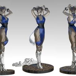 chunlistl.jpg Télécharger fichier STL Le cyborg Chun Li d'un combattant de rue • Plan imprimable en 3D, paulienet