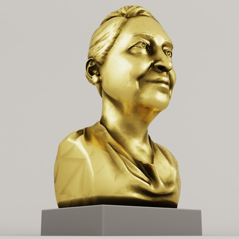 Download STL golden woman statue, saeedpeyda