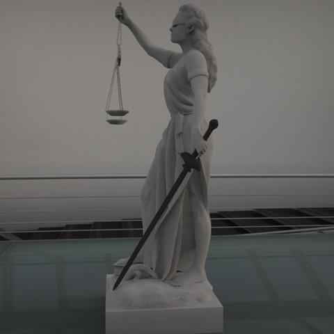 2.jpg Download STL file justice woman • 3D printing object, saeedpeyda