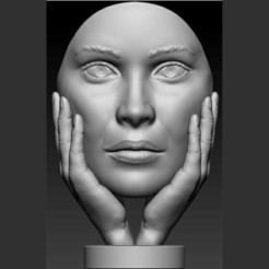 4.jpg Download STL file hand face statue • 3D printer object, saeedpeyda
