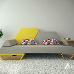 3d printer model sofa 1, saeedpeyda