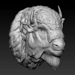 3d printer files bufalo american bison, saeedpeyda