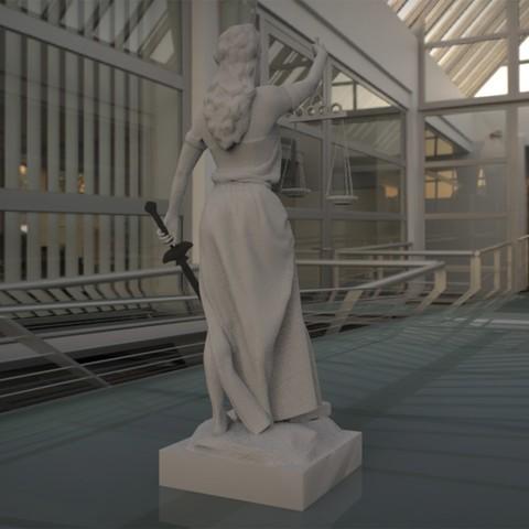 3.jpg Download STL file justice woman • 3D printing object, saeedpeyda