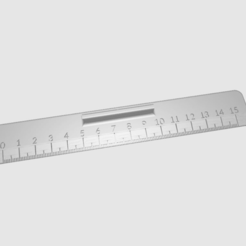 Ruler_15mm.png Télécharger fichier STL gratuit Règle 15mm • Design pour imprimante 3D, rovanni