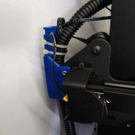 Download free STL file Cable holder with clamp • Template to 3D print, rovanni