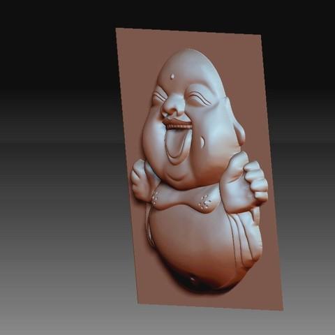 happyBuddhaB3.jpg Télécharger fichier STL gratuit joyeux petit Bouddha • Modèle pour imprimante 3D, stlfilesfree