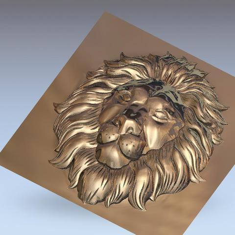 lion_headB2.jpg Download free STL file lion head bas-relief model for cnc • 3D printer design, stlfilesfree