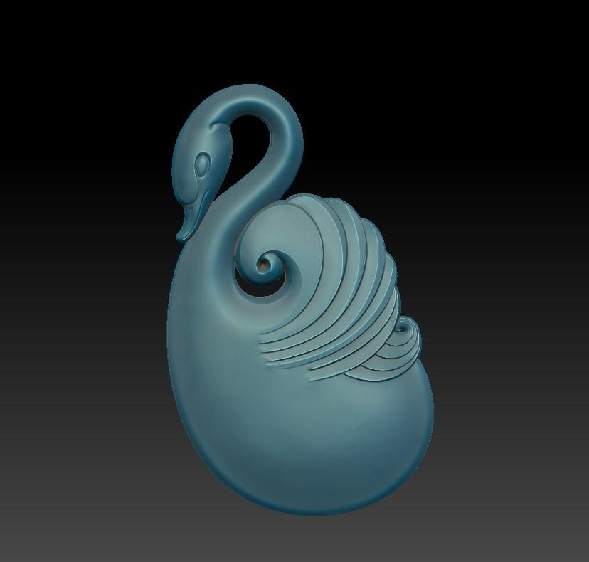 swan_pendant4.jpg Download free OBJ file swan pendant • Object to 3D print, stlfilesfree