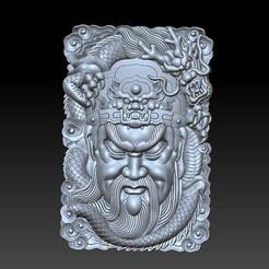 guangong_dragon1.jpg Télécharger fichier STL gratuit Guangong et dragon • Plan imprimable en 3D, stlfilesfree