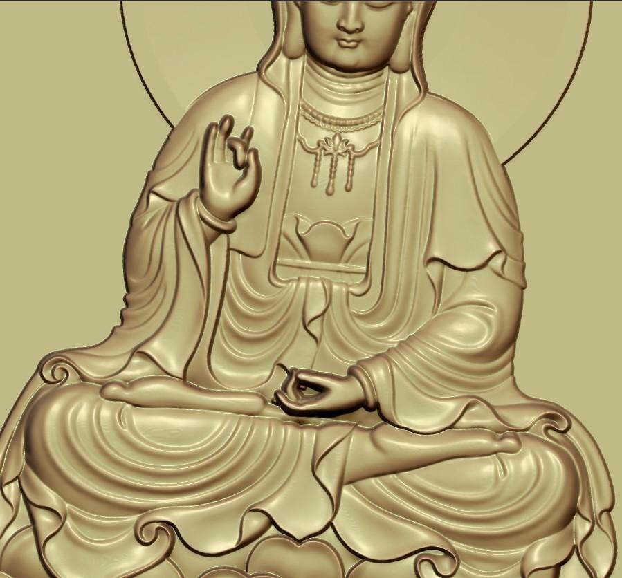 guanyinDDD6.jpg Download free STL file Guanyin bodhisattva Kwan-yin • Template to 3D print, stlfilesfree