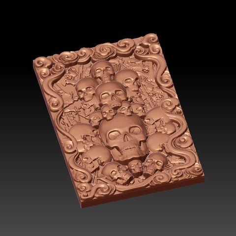 Skulls4.jpg Download free STL file skulls • 3D print template, stlfilesfree