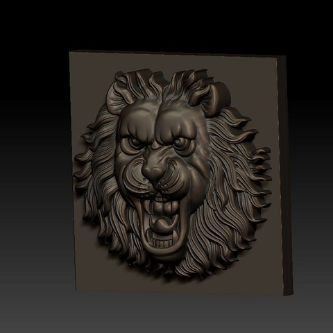 LIONHEAD2.jpg Télécharger fichier STL gratuit tête de lion • Design pour imprimante 3D, stlfilesfree