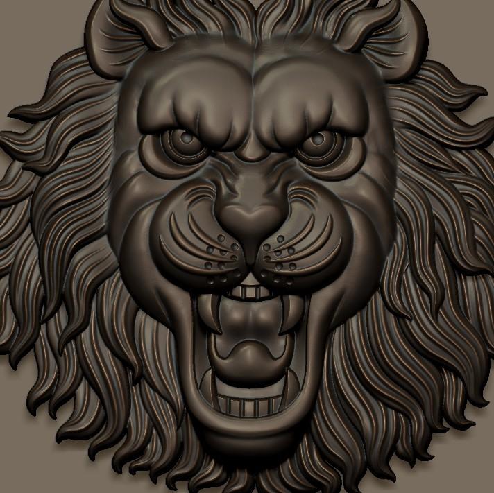 LIONHEAD5.jpg Télécharger fichier STL gratuit tête de lion • Design pour imprimante 3D, stlfilesfree