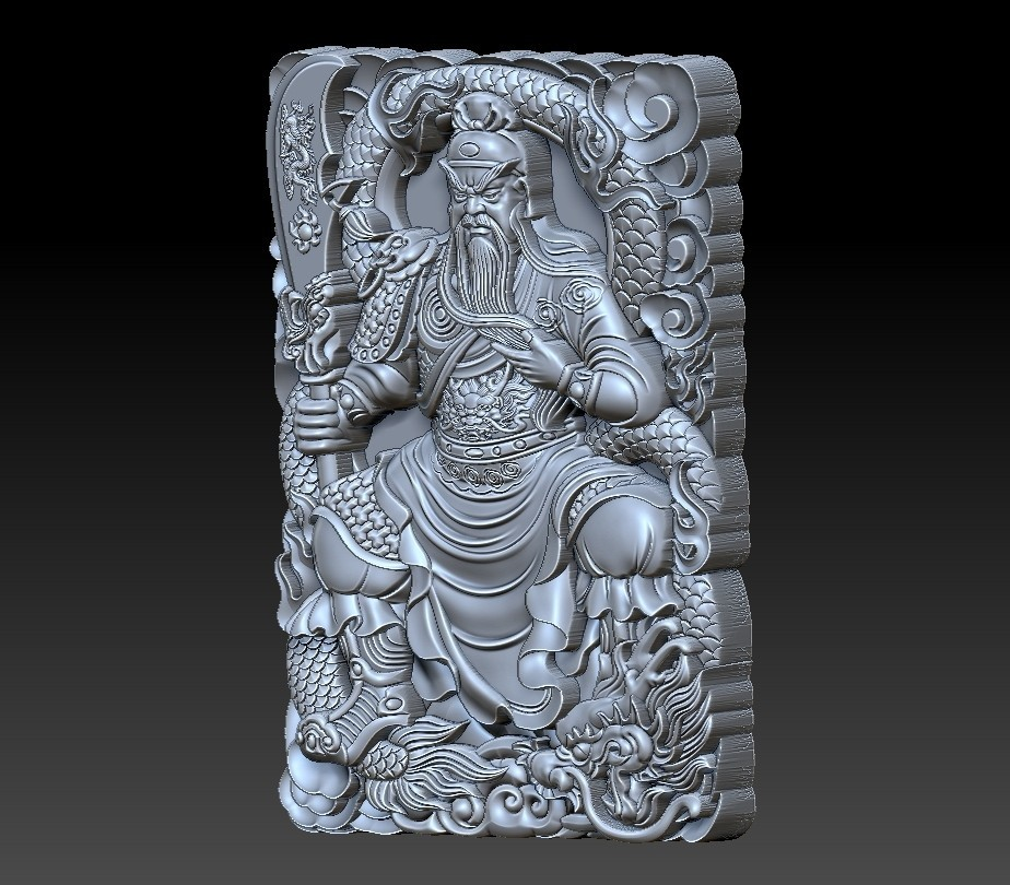 guangong_sitting3.jpg Download free STL file Guangong • 3D printing model, stlfilesfree