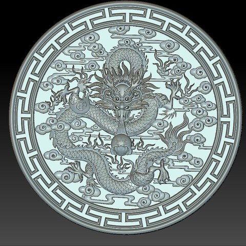 round_Dragon4.jpg Download free STL file dragon • 3D print object, stlfilesfree