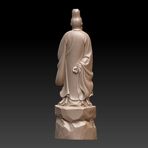 ConfuciusSculptureA3.jpg Download free STL file Confucius statue • 3D printing object, stlfilesfree